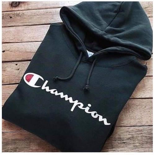 Champ Black Pullover Fleece Hoodie