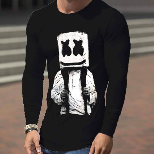 Marshmellow Black Pullover Sweatshirt