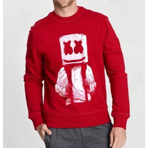 Marshmellow Red Pullover Sweatshirt