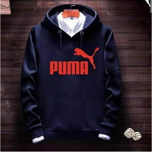 Pm Navy Blue Pullover Hoodie
