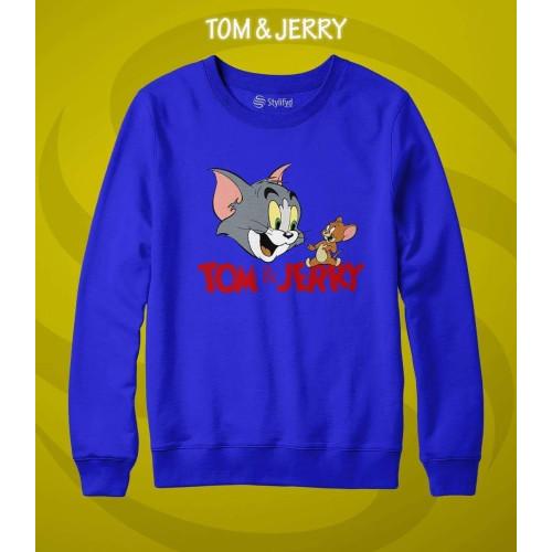 Tom & Jerry Blue Fleece Sweatshirt