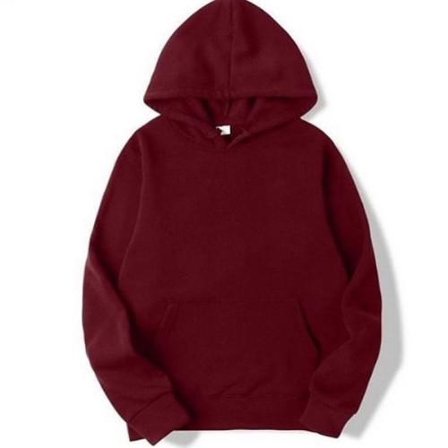 Plain Maroon Pullover Hooded (Unisex)