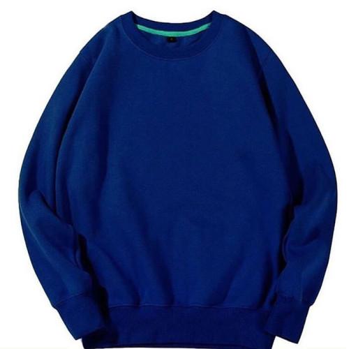 Plain Blue Long Sleeves Sweatshirt (Unisex)