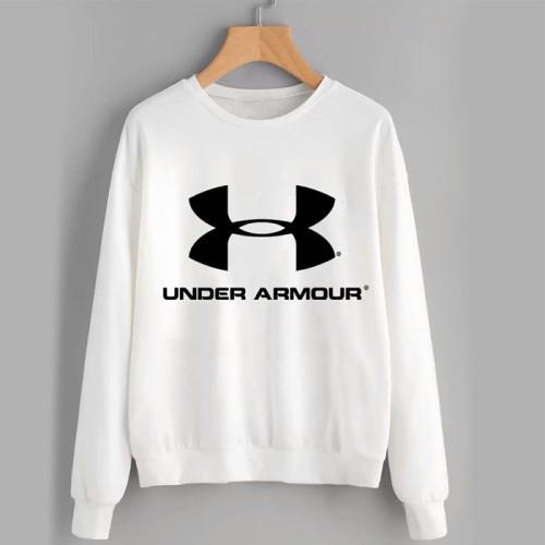 Under Armour White Pullover Sweatshirt