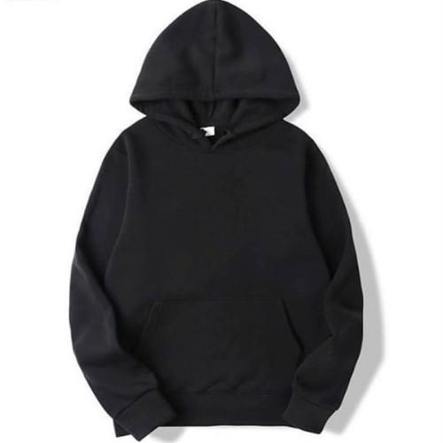 Black Plain Pullover Hoodie (Unisex)