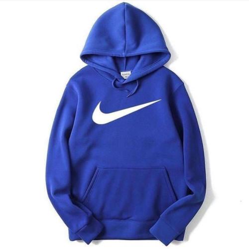 Nk Blue Pullover Fleece Hoodie