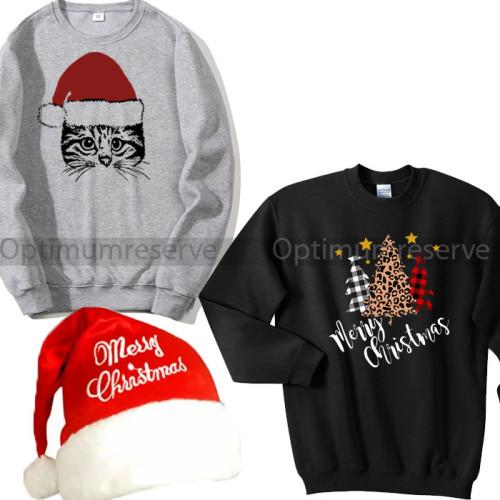 Bundle of 2 Christmas Sweatshirts with Cap
