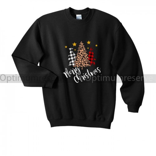 Meri Christmas Black Fleece Sweatshirt
