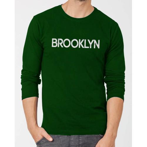 Brooklyn Dark Green Full Sleeves T-Shirt