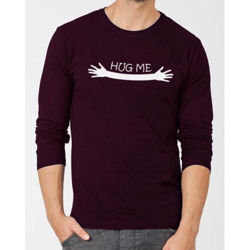 Hug me Purple Full Sleeves T-Shirt