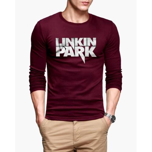 Linkin Park Maroon Full Sleeves T-Shirt
