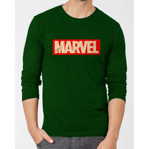 Marvel Dark Green Full Sleeves T-Shirt