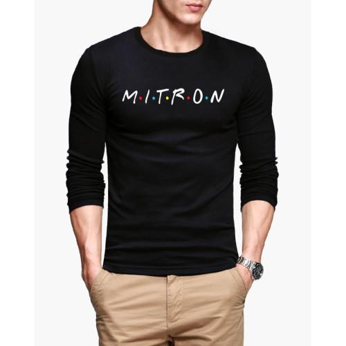 Mitron High Quality Full Sleeves Black T-Shirt