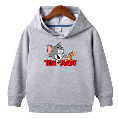 Tom & Jerry Grey Fleece Hoodie For Kids