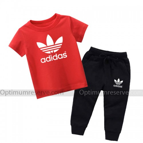 Ad Red Summer Tracksuit For Kid