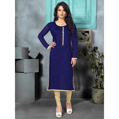 Juniper Royal Blue Designer Long Kurti For Women