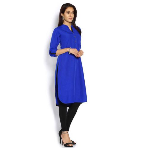 Varanga Best Quality Royal Blue Tunic Top For Women