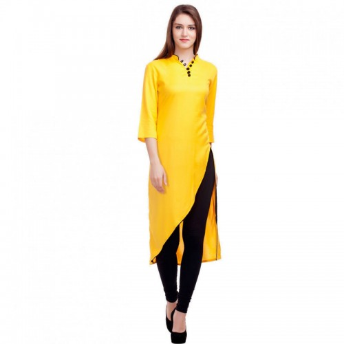 Yellow Latest Kurti Design For Women