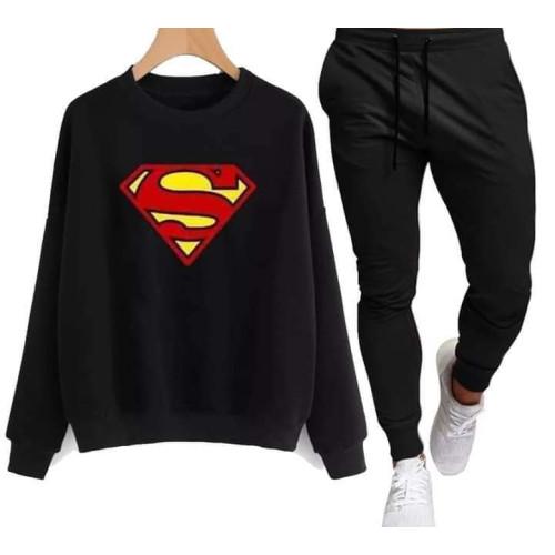 Superman Black Winter Tracksuit For Boys
