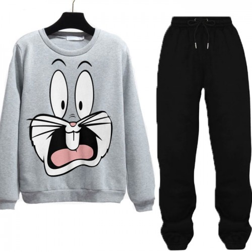 Bugs Bunny Grey Winter Tracksuit For Ladies