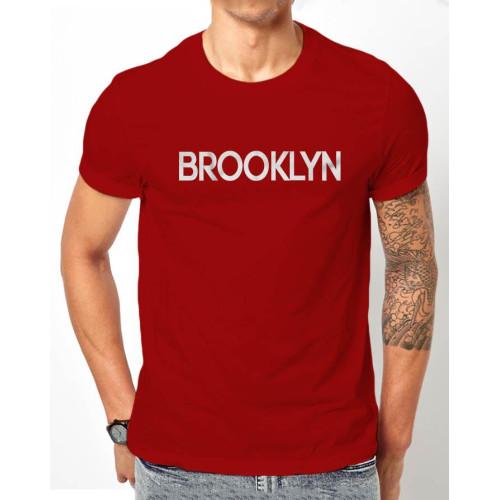 Brooklyn Brown Half Sleeves Printed T-Shirt
