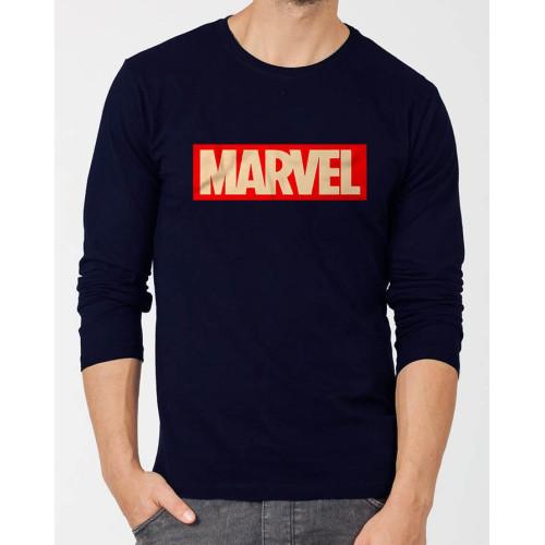 Marvel Navy Blue Full Sleeves T-Shirt