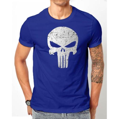 Sketch Blue Half Sleeves Printed T-Shirt