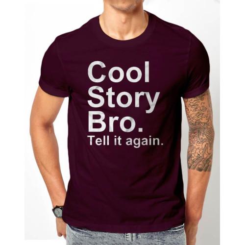 Cool Story Bro Purple Half Sleeves T-Shirt