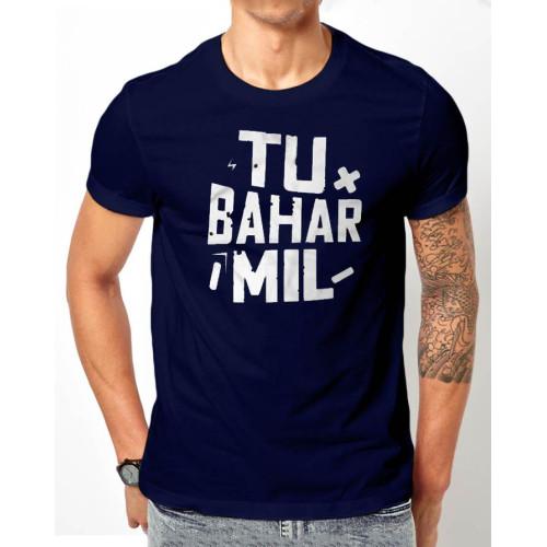 Tu Bahar Mil Navy Blue Half Sleeves T-Shirt