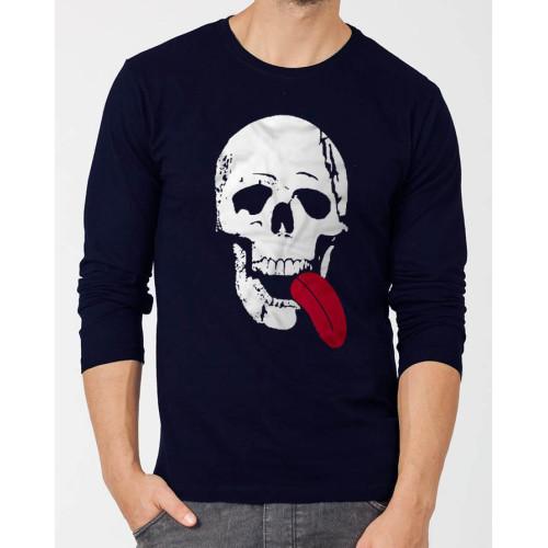 Skeleton Black Full Sleeves T-Shirt