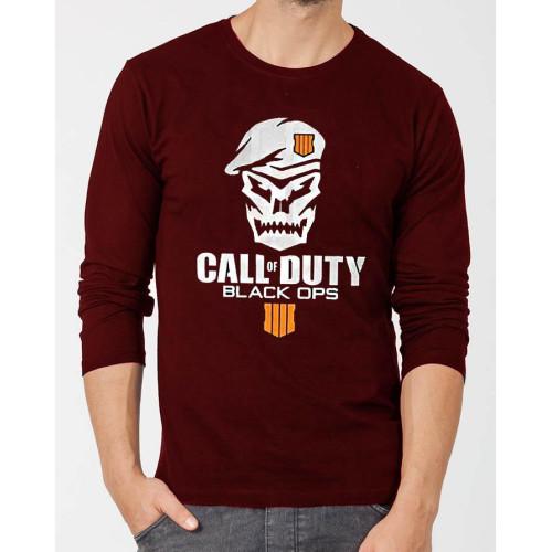 Call of Duty Maroon Full Sleeves T-Shirt