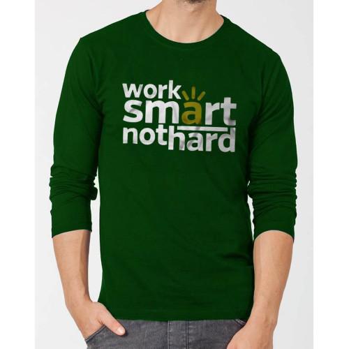 Work Smart Green Full Sleeves T-Shirt