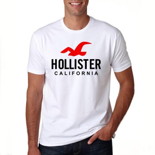 Hollister White Half Sleeves T-Shirt