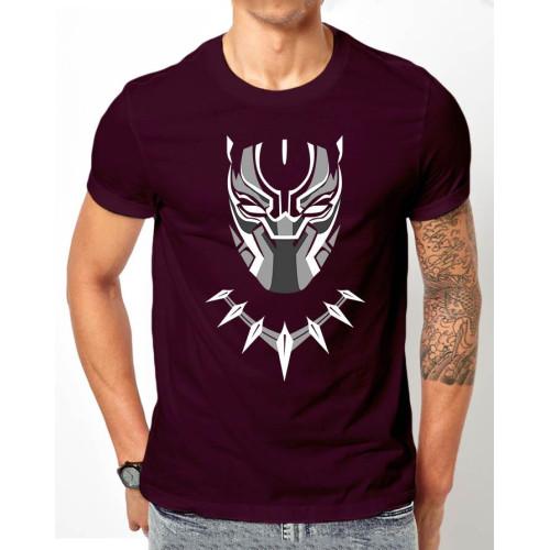 Purple Half Sleeves Printed T-Shirt