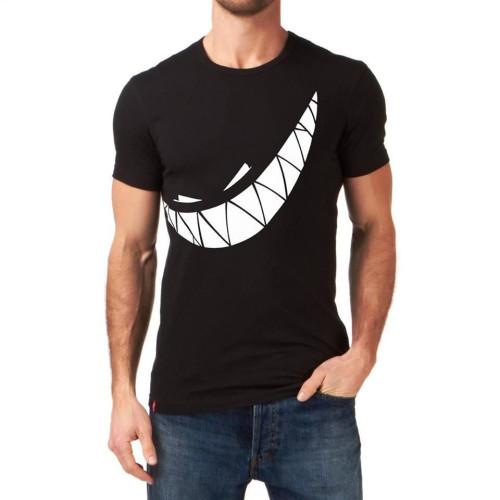 Crazy Smile Black Half Sleeves T-Shirt