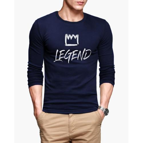 Legend Navy Blue Full Sleeves T-Shirt