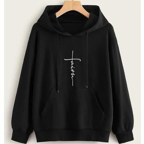 Faith Black Pullover Hoodie