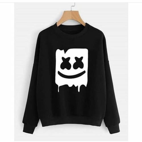Marshmellow Black Fleece Sweatshirt