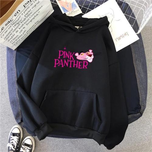 Pink Panther Black Printed Fleece Hoodie