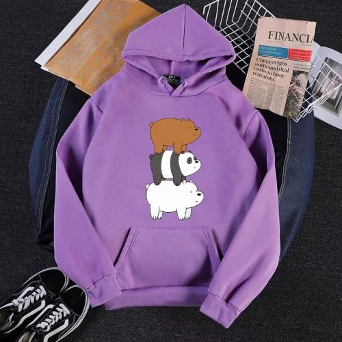 Teddy Bears Logo Purple Pullover Hoodie