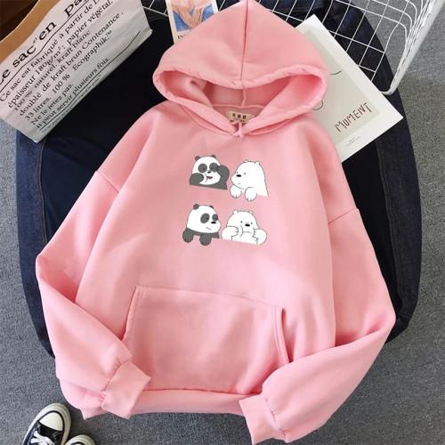 Cool Bears Pink Pullover Hoodie