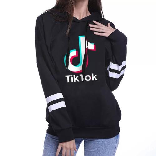 Tik Tok Black Pullover Hoodie For Girls
