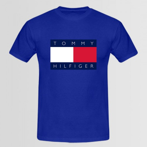 Tommy Top Quality Summer Collection T-Shirt in Blue