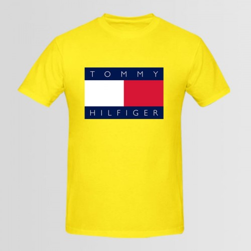 Tommy Top Quality Summer Collection T-Shirt in Yellow