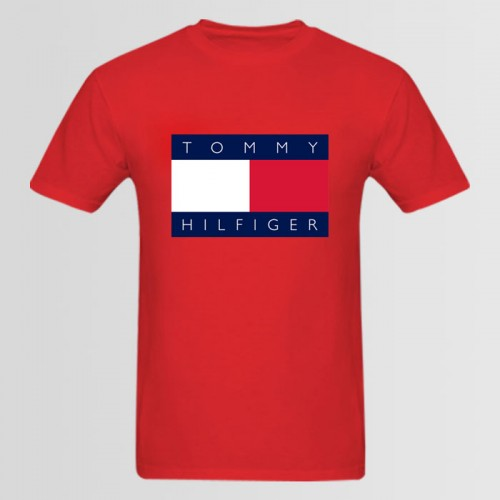 Tommy Top Quality Summer Collection T-Shirt in Red