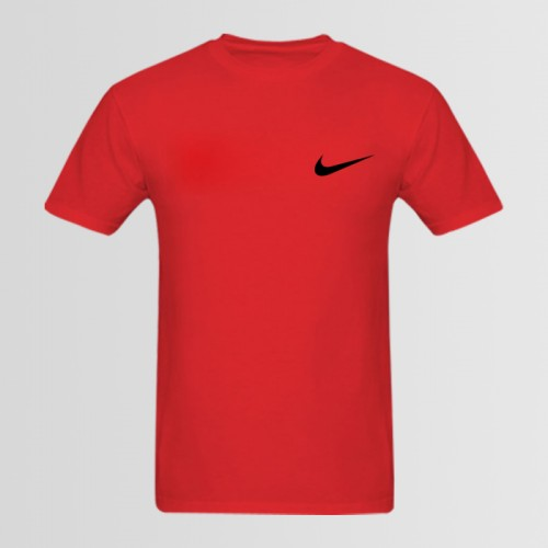 Nike Small Logo Red Half Sleeves T-shirt For Men