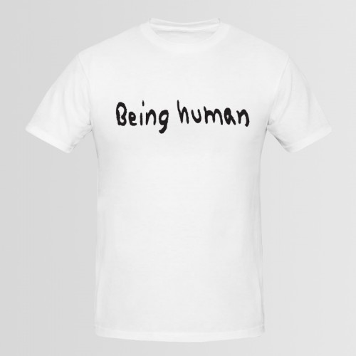 Being Human White Half Sleeves Printed T-Shirt