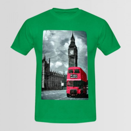 London logo Green Graphic T-Shirt For Men