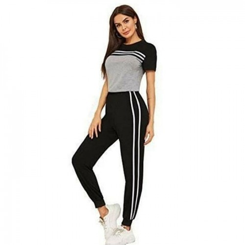 Lining Grey Summer Tracksuit For Women