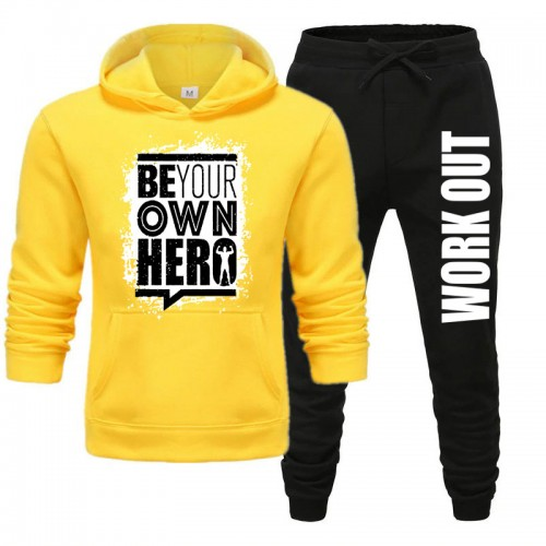 Be your Own Hero Yellow Track Suit For Mens